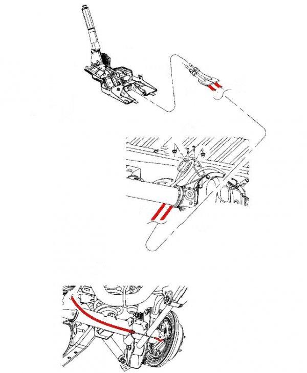 Linka hamulca postojowego Jeep Wrangler JK 2-DR 2007-