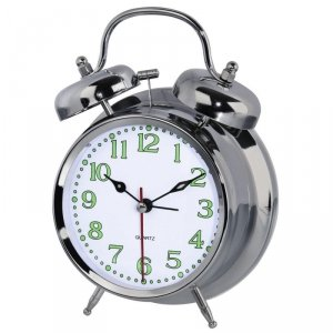 Zegar budzik Hama Nostalgia, srebrny