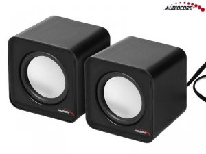 Głośniki Audiocore AC870B komputerowe 6W USB Silver&Black