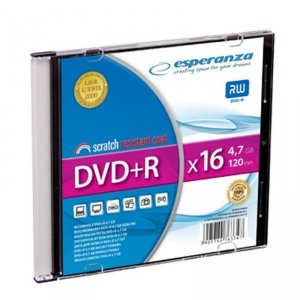 DVD+R Esperanza 16x 4,7GB (Slim 1)