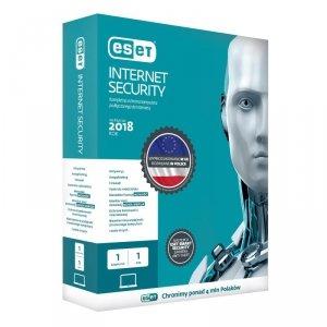 ESET Internet Security dla 1 komputera - przedłużenie licencji, 12 m-cy, upg., BOX