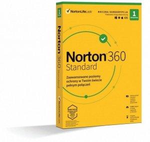 Oprogramowanie NORTON 360 STANDARD 10GB PL 1 użytkownik, 1 urządzenie, 1 rok