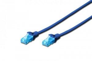 Patchcord DIGITUS UTP kat. 5e 0,5m PVC niebieski