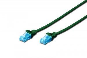 Patchcord DIGITUS UTP kat. 5e 0,5m PVC zielony