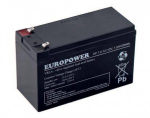 Akumulator Europower do UPS 12V 7,2Ah