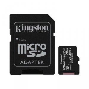 Kingston karta pamięci microSDXC Canvas Select Plus (128GB   class 10   UHS-I   100 MB/s) + adapter