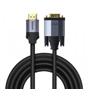 Baseus kabel Enjoyment HDMI - VGA 2,0 m ciemno-szary