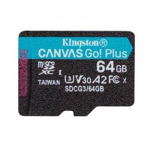 Kingston karta pamięci micro SDXC Canvas Go! Plus (64GB   class 10   UHS-I   170 MB/s) + adapter