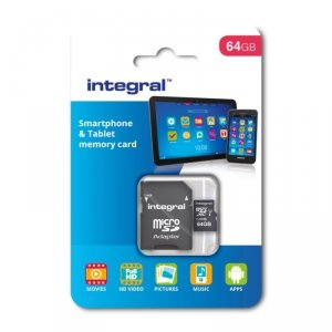 Integral karta pamięci 64GB  microSDHC/XC Class 10 UHS-I U1 Smartphone and Tablet