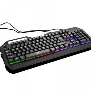 XO klawiatura przewodowa KB-01 czarna metalowa RGB