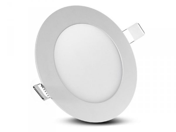 Panel LED sufitowy Led4U LD151N podtynkowy slim 6W Natural white 4000-4500K Fi120*H20mm