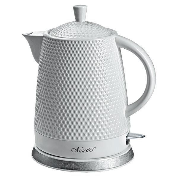 Czajnik elektryczny ceramiczny Maestro MR069 1,5l, 1200W biały