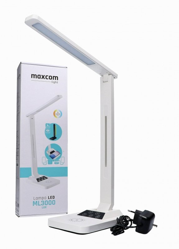 Lampka biurkowa MaxCom ML3000WH LUX