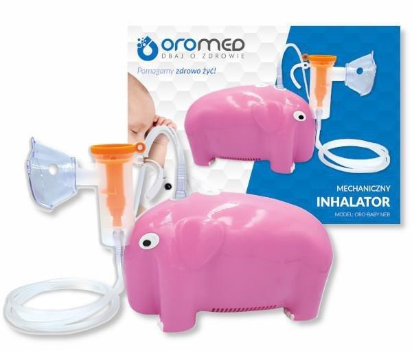 Inhalator tłokowy słoń ORO-BABY NEB PINK