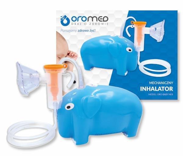 Inhalator tłokowy słoń ORO-BABY NEB BLUE