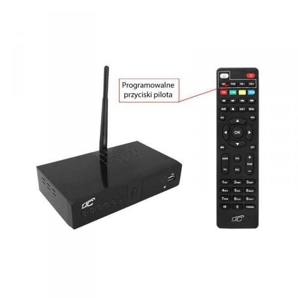 Tuner DVB-T-2 z funkcją Wi-Fi LTC TV naziemnej DVB3 z pilotem programowalnym H.265