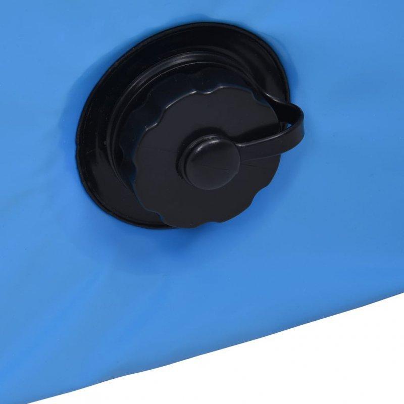 Składany basen dla psa, niebieski, 160 x 30 cm, PVC