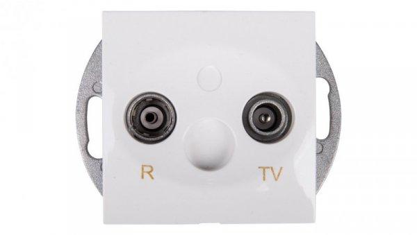 Simon 54 Gniazdo antenowe RD/TV końcowe białe DAZ.01/11