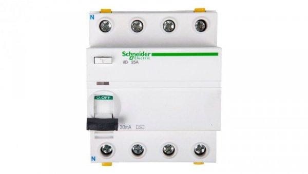 Wyłącznik różnicowoprądowy 4P 25A 0,03A typ AC iID A9Z11425