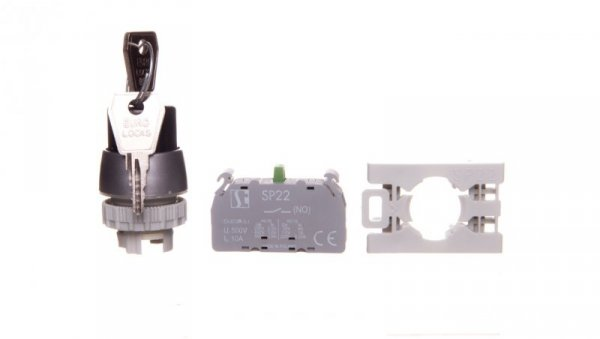 Przycisk pokrętny 2 położeniowy klucz 22mm 1Z bez samopowrotu SP22-SAV-10.