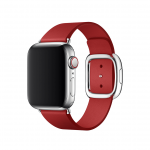 Apple pasek z klamrą nowoczesną w kolorze (PRODUCT)RED do Apple Watch 38/40 mm - Rozmiar S