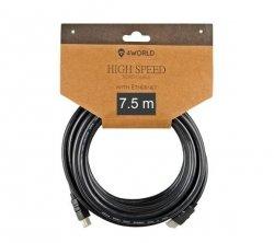 Kabel HDMI 4World v1.4 7,5 m