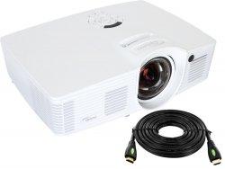 --- Kabel HDMI 10m GRATIS ---- Projektor OPTOMA GT1080e DLP 1080p Full 3D Short throw