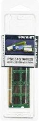 Pamięć RAM Patriot, DDR3, 4 GB, 1600MHz, CL11