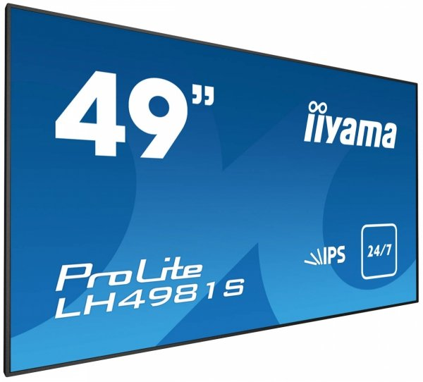 Monitor IIYAMA 49 LH4981S-B1 IPS FullHD DAISY CHAIN Support, USB Media Player, OPS, 24/7