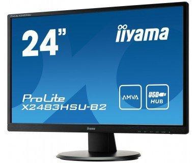 "IIYAMA 24"" X2483HSU-B2 AMVA+ 4ms FHD + ZESTAW"