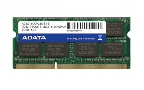 Adata Premier 4GB SO-DIMM DDR3 1600Mhz CL11