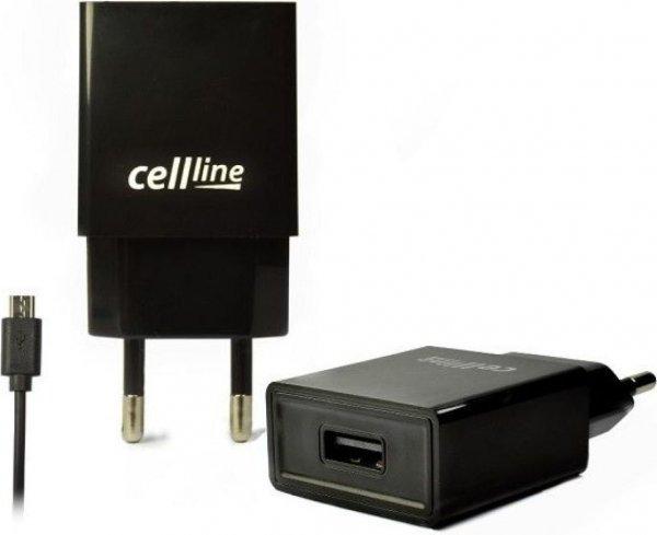 Ładowarka sieciowa Celline USB (czarna)