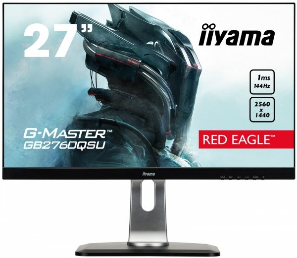 IIYAMA G-MASTER RED EAGLE GB2760QSU-B1 27 WQHD 144Hz 1ms Disp.Port FreeSync