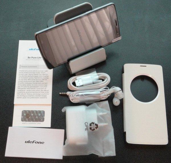 """Smartfon Ulefone Be Pure Lite 8GB 5.0"""" (biały) POLSKA DYSTRYBUCJA Etui+słuchawki"""