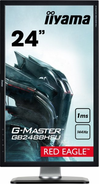 "IIYAMA G-MASTER RED EAGLE GB2488HSU-B3 24"" 1ms 144Hz FreeSync + MYSZKA V7m"
