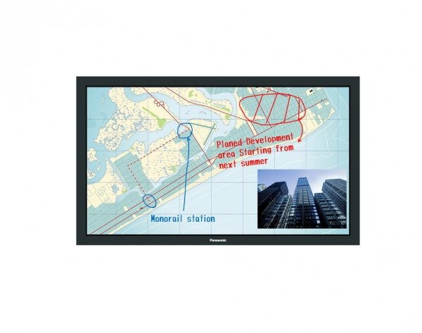 Monitor Panasonic TH-50BF1E 50 VA multi-touch Miracast+Intel WiDi, Digital Link, szyba ochronna