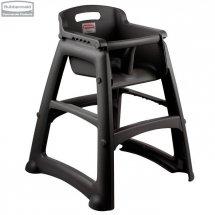 Krzesełko dla dzieci Sturdy Chair™ Black z ochroną antybakteryjną Microban®
