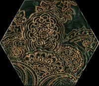Urban Colours Green Inserto Szklane Heksagon B 17,1x19,8