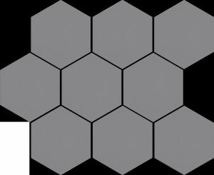 Cerrad Cambia Gris Lappato Mozaika Heksagon 27,53x33,4