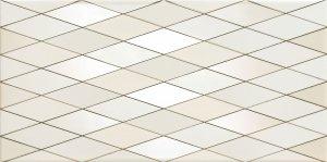 Domino Biel Diamond Dekor 22,3x44,8