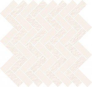 Cersanit White Micro Mosaic Parquet Mix 31,3x33,1