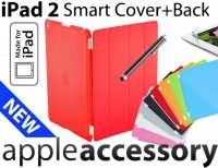 4w1 Smart Cover+Back Cover + Folia + C Pen iPad 2