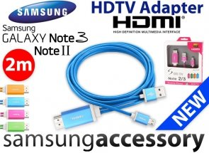 Kabel HDTV Adapter HDMI SAMSUNG GALAXY Note 2/3 2M ALU