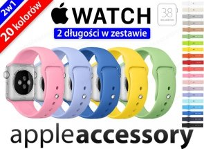 Pasek Sportowy SPORT BAND do APPLE Watch 38mm 2w1