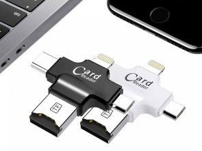 5w1 Pamięć FlashDrive do iPhone 5 6 7 8 X 128GB SD Reader USB-C