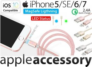 Magnetyczny Kabel USB Lightning do Apple iPhone 5/6/7 iPad Air/Pro iOS10