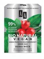 AA Bio Natural Vegan Krem przeciwzmarszczkowy Dzika Róża na dzień i noc  50ml