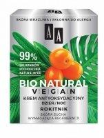 AA Bio Natural Vegan Krem antyoksydacyjny Rokitnik na dzień i noc  50ml