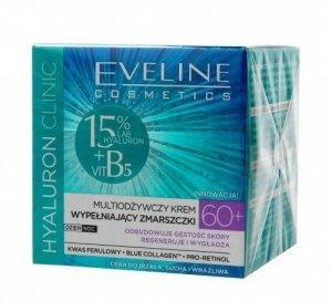 Eveline Hyaluron Clinic 60+ Multiodżywczy Krem wypełniający zmarszczki na dzień i noc  50ml
