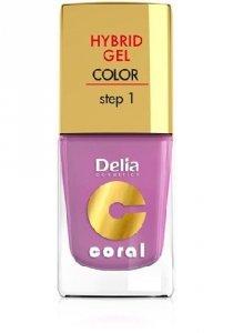 Delia Cosmetics Coral Hybrid Gel Emalia do paznokci nr 05 róż pudrowy 11ml